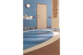 Linoleum PVC Omogen antibacterian Albastru Optima 848 Tarkett