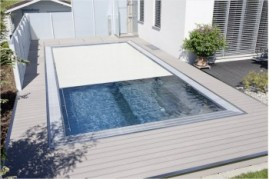 Deck maro wpc Rehau piscina si terasa Ametista-Pret Deck Rehau PVC