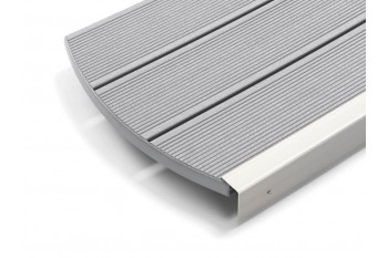 Deck compozit lemn plastic Relazzo gri inchis Sasso 194 mm