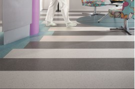 Linoleum Gri Deschis Omogen Optima 853 Tarkett