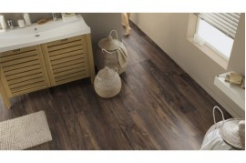Linoleum - Covor PVC Dale Tip Parchet Nuc-Natural Walnut Brown Tarkett