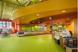 Linoleum covor PVC restaurante cantine fast-food omogen Optima Tarkett 861