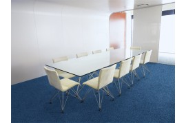 Mocheta dale albastra ignifugata de trafic intens pentru birouri si cladiri de birouri Modulyss Alpha 552