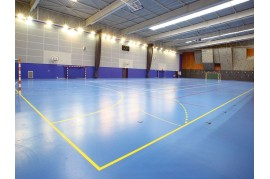 LINOLEUM  SPORTIV ALBASTRU IDEAL PENTRU SALA FITNESS, AEROBIC, GROSIME 3.45 mm - OMNISPORT SPEED ROYAL BLUE TARKETT